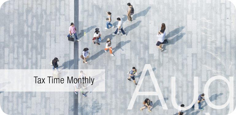 Tax Time Monthly: August 2018