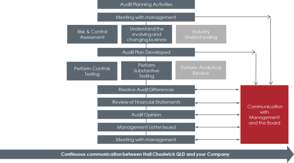 Company Audit Process at Hall Chadwick QLD