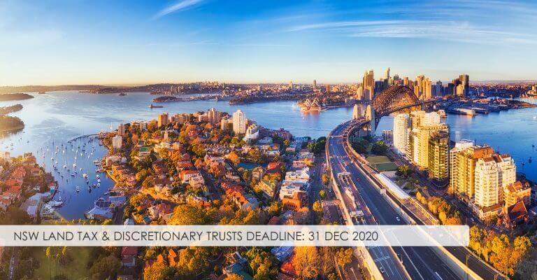 NSW Land Tax & Discretionary Trusts – Deadline 31 Dec